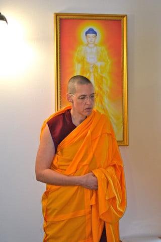 Ven. Tsultrim Gyalten and Amitabha Buddha.