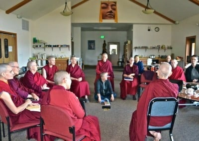 Ven. Chodron leads an informal Q&A each day.