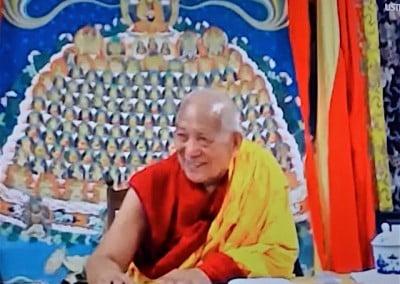 Buddhist monk teaching