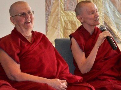Ven. Jigme and Ven. Samten teaching.