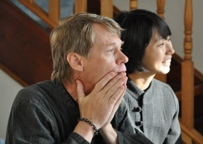 John Beaudry and Seona Gwan are inspired by the residents and Venerable's vision of a home for the sangha.