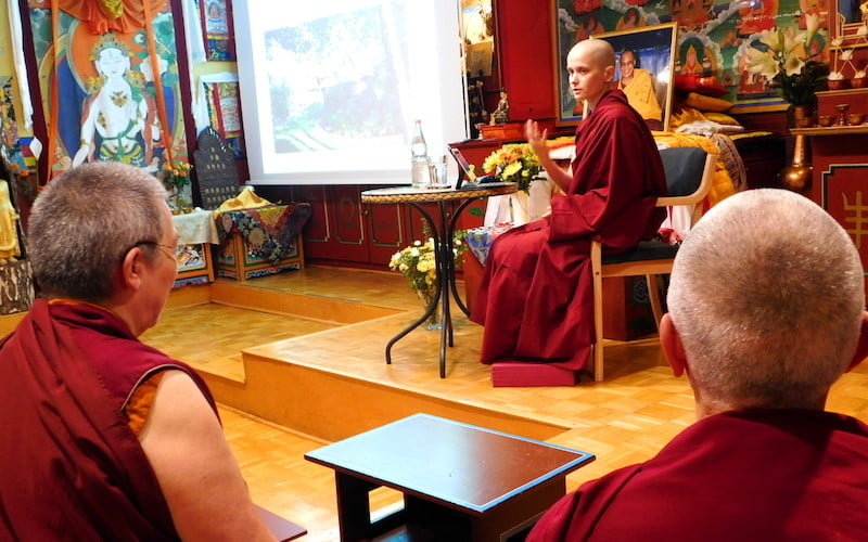 Ven. Jampa Shares the Dharma in Germany