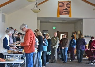 Sharing the Dharma Day includes a wonderful vegetarian potluck.
