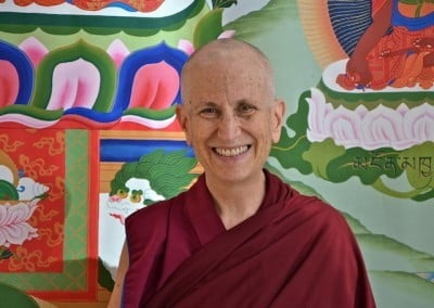 Our teacher and guide Bhikshuni Thubten Chodron.