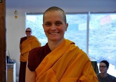 smiling nun posing
