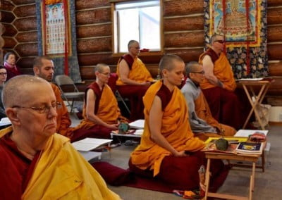 nuns and monk meditation.