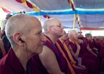 Ven. Chodron, Ven. Jampa Tsedroen, Jetsunma Tenzin Palmo, and Ven. Karma Lekshe Tsomo, all strong advocates for nuns' education.