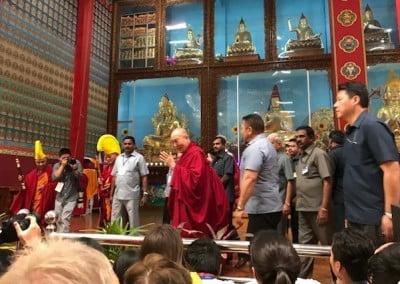 His Holiness the Dalai Lama at the Emory-Tibet symposium.