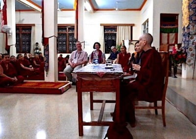 Ven. Chodron also speaks at Jangchub Choeling Nunnery.