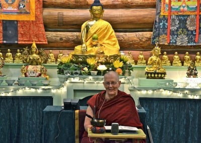 Ven. Jigme leads us through the Vajrasattva practice with joy.