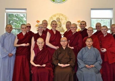 The abbey sangha and its venerable guests.