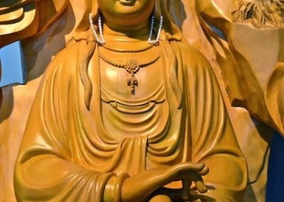 Kuan Yin in her peaceful pose.