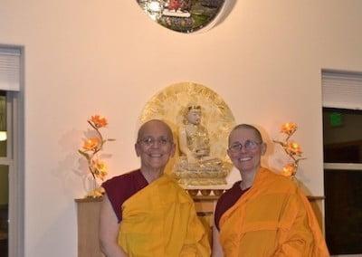 Dharma sisters, Vens. Semkye and Chonyi.