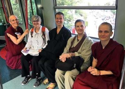 nuns and laypeople on bus