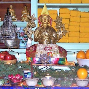 Buddhist statue on altar