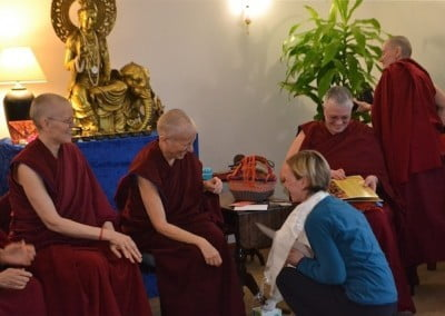 Caz, who organized Venerable's European teaching tour, says her good-byes.