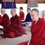 monastics meditating
