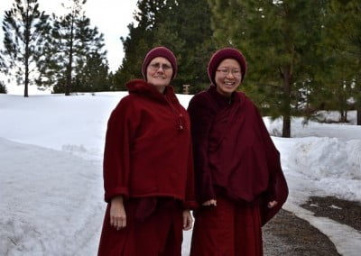 Senior and junior monastics support each other to grow and transform.