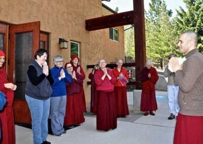 After 5 months, Ven. Tenzin bids farewell with a promise to return.