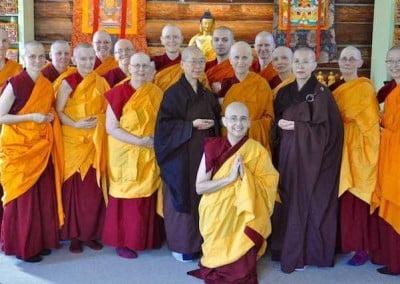 The sangha.