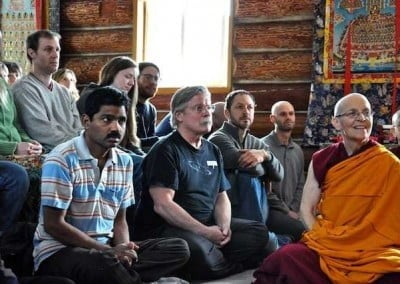 Our guests and the sangha listen attentively.