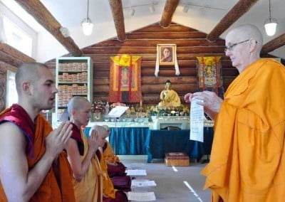 Ven. Tenzin give his permission to receive the Pravarana.