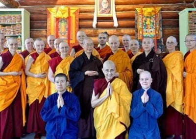 The Abbey community with the Chinese bhikshunis.