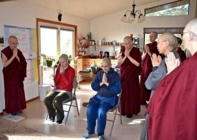 The entire sangha gives joyful full support.