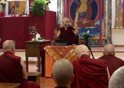Resident monks and nuns invite Ven. Chodron to speak about sangha matters.