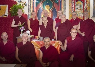Ven. Chodron loves spending time with sangha, wherever she meets them