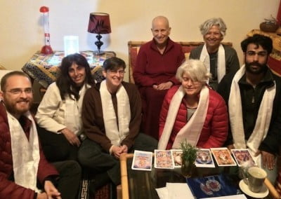 Ven. Chodron meets with students from Israel.