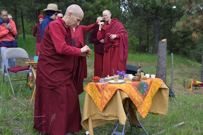 Blessing the land before construction: preparing offerings