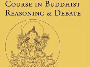 Debate book cover with Manjushri line drawing