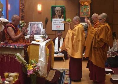 monastics perform ritual offering
