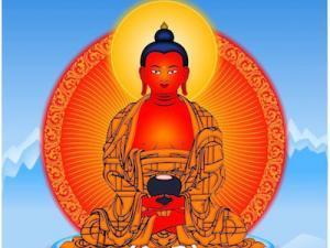 Red Amitabha Buddha