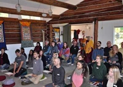 A full house for October Sharing the Dharma Day.