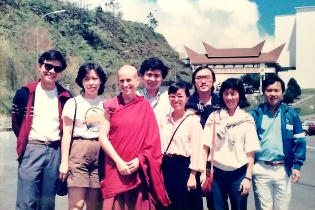 Ven. Chodron ad students in 1988