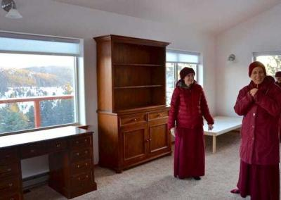 Ven. Chodron is delighted with the new space.
