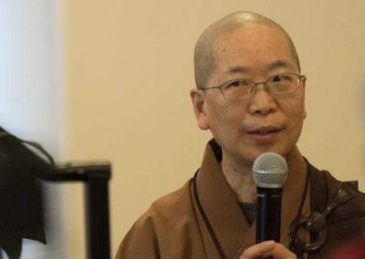 Venerable Jendy - longtime student of Master Wuyin and longtime friend of Sravasti Abbey -- is the main interpreter.