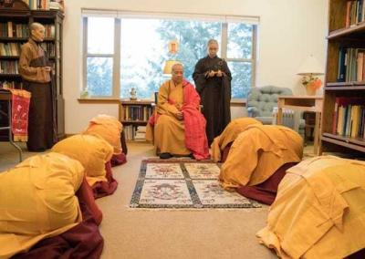 Nuns formally request the Venerable Master to teach the Vinaya.