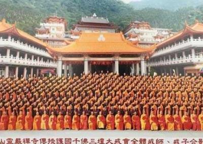 newly ordained pose for photo in Taiwan