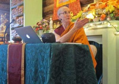 Ven. Tsepal gives a wonderful teaching on how to visualize Vajrasattva.