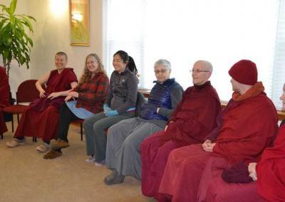 Before going into silence, Retreatants connect by sharing our motivations, aspirations, and concerns.
