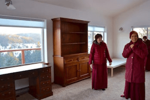 Thubten Chodron in new cottage