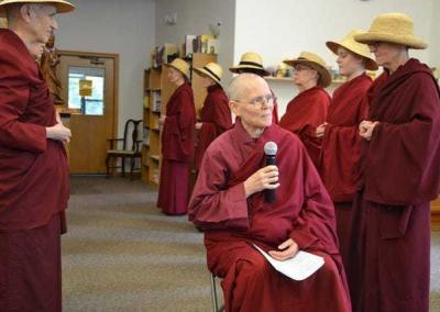 And then there were skits. Here the Abbey community demonstrates the Country & Western sangha.