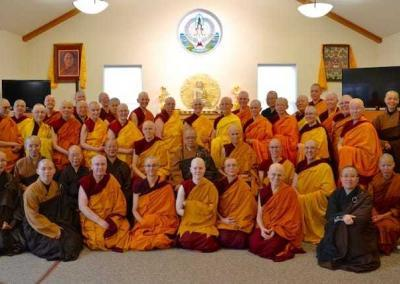 Ven. Lamsel joins the sangha of the 10 directions.
