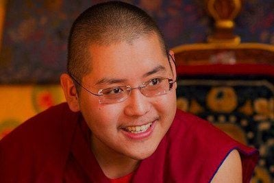 H.E. Ling Rinpoche at the Abbey
