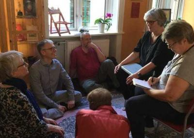 Group discussions are an important part of the Copenhagen retreat.
