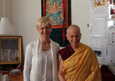 Edita takes refuge with Ven. Chodron as her preceptor.