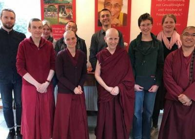 Meeting with the staff of Tibetan Center Hamburg.